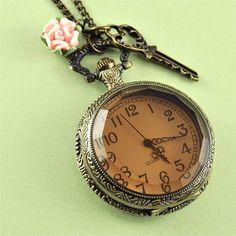 Pocket watch necklace - so feminine! £24 pennymasquerade.com