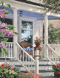 Take a seat & rest your feet~there's something about a front porch!