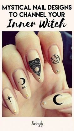 Ideas For Nails Black Grunge Nu Goth roundnaildesigns Ideas For Nails Black Grunge Nu Goth roundnaildesigns More from my site New nails pastel goth soft grunge 44 ideas Sad quotes Goth Nails, Goth Nail Art, Witchy Nails, Black Nail Designs, Cool Nail Designs, Acrylic Nail Designs, Halloween Designs, Nu Goth, Kat Von D