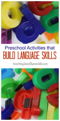 Preschool activities that build language skills from Teaching 2 and 3 Year Olds #speechdevelopment