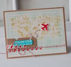 Follow Your Dreams Card by Betsy Veldman for Papertrey Ink (January 2013)