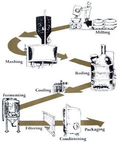 The best beer process flow chart malting and brewing for Brewery layout software