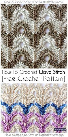 How To Crochet Wave Stitch [Free Crochet Pattern] #crochet #freecrochetpatterns  #howtocrochet #freepattern #stitch #yarn #blanket #pillow #scarf