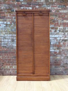 Mid century French oak industrial double tambour front cabinet with adjustable shelving, smooth operating tambours and working locks and keys. Shop our full collection of Storage here at Vinterior Retro Furniture, Antique Furniture, Flat Ideas, French Oak, Tambour, Mid Century Furniture, Adjustable Shelving, 1940s, Locks