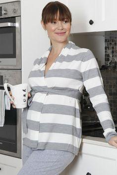 27f7cdbc1cd0d Lightweight Knitted Cardigan with Waist Tie Nursing Wear, Nursing Tops,  Maternity Nursing, Kangaroo