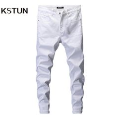 Denim Pants, Trousers, Casual Pants, Men Casual, Jeans Brands, Cheap Jeans, Sporty Outfits, Best Jeans, White Jeans