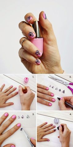 How to : Create A Geometric Nails Design