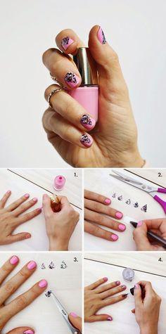 How to : Create A Geometric Nails Design