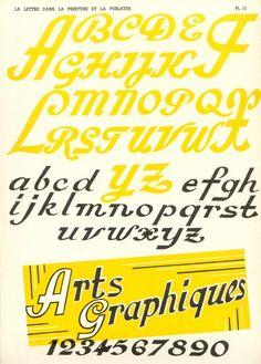 Vintage French type specimen book- La Lettre (1957)