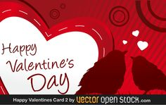 Valentine's day Greeting Card with Birds