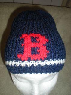 758c68c0ba5 Items similar to Red Sox Beanie on Etsy