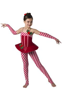 A candy cane striped costume like this one by Dansco will be a hit at your holiday show. #FashionFriday