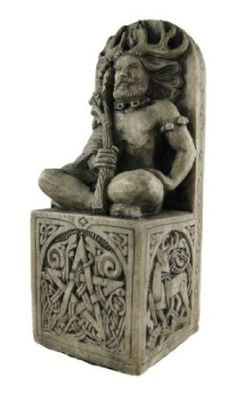 Seated Forest God Statue ,Stone Finish