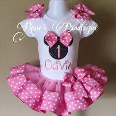 Set de Tutu de Minnie Mouse cumpleaños cinta Traje de fiesta