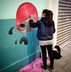 Charismatic Simoni Fontana working in Thessaloniki, Greece (LP) Amazing Street Art, Best Street Art, Old School Fashion, Boy Character, Sidewalk Chalk, Thessaloniki, Street Art Graffiti, Cool Art, Awesome Art