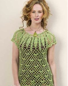 Crochet top. FREE pattern for sizes XL and XXL.