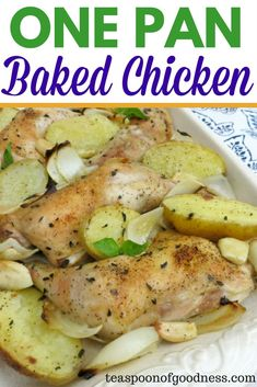 One pan baked chicke