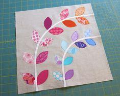 Little Vines quilt block tutorial by Elizabeth Hartman. ohfransson.com