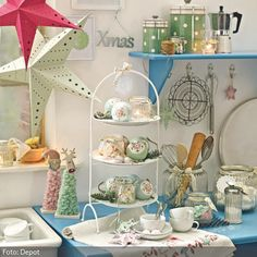 Weihnachtsdeko in Pastellfarben   roomido.com