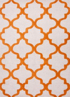 RugStudio presents Jaipur Rugs City Miami Ct22 White / Sun Orange Hand-Tufted, Good Quality Area Rug