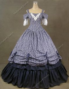 Southern Belle Civil War Cotton Lace Ball Gown Dress Prom 171 XXL