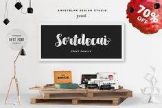 Sortdecai Font Family & Bonus 70%OFF by Swistblnk Design Std. on @creativemarket