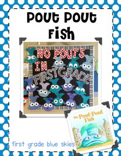 """""""Pout"""" is one of our vocabulary words in StoryTown for first grade. I love using Debbie Diesen's book, The Pout, Pout Fish to give my firsties some more exposure to the meaning of the word… Blub, Bluuuub, Bluuuuuuuub! To get your freebie, click {here} I was super excited back in 2011 when the author ofThe Pout Pout Fishcommented on MY blog! I as so honored!"""