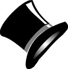 Výsledek obrázku pro kreslený black cylinder hat