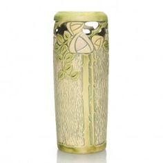 "Roseville Experimental Vase, Mackintosh Roses, 11 3/8"""