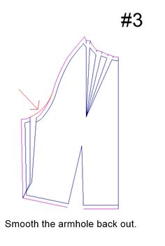 Circumference FBA without effecting the waistline.  Fitting Woes >> Doing a FBA on a garment without bust darts