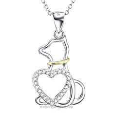 YFN Silver Jewelry Gift 925 Sterling Lovely Heart Cat Necklace (Love cat) BUY NOW     $86.70    Product Advantage:1.cat in heart symbol of deep love,confession,birthday,christmas,wedding,anniversary,engagement is very suitable as a gift;2.100% 925 aterling silve ..