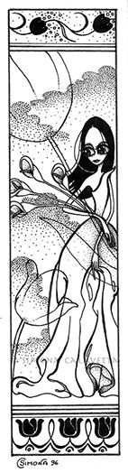 Bookmark - ink - 1996 My Works, Ink, India Ink
