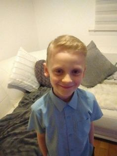 My youngest son's new haircut x