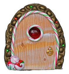 Candy Elf Fairy Door Miniature Fairy Door Fairy by PolymerPamE