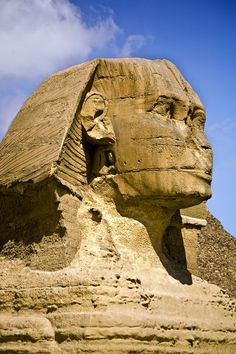 A close-up shot of the Sphinx, Egypt