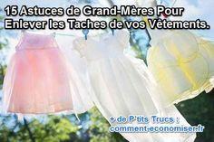 15 Astuces de Grand-Mères Pour Enlever TOUTES les Taches de vos Vêtements.