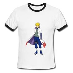 Yondaime Hokage White black Men's Ringer T-shirt For Men High Quality-Art & design Clothing Free Shipping!No setup fees. Get your t-shirts or phone cases printed at awesomely low prices!