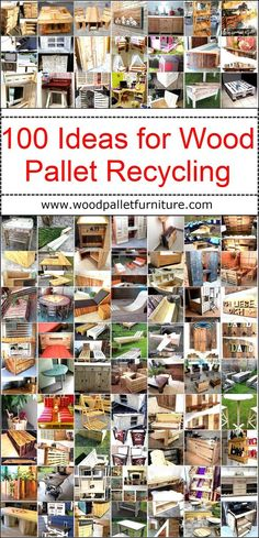The wood pallets are not expensive and they can be arranged easily to reshape them into the furniture or other beneficial items that are available at a high cost in the market. We are going to present 100 ideas of wood pallets recycling and you can choose one or more from them to impress others by copying them for the attractive decoration of the home.