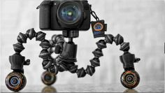 Gorillapod dolly down low and ready for action
