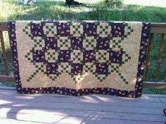 Irish chain quilt, wedding quilt, made by naomi s