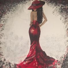 A personal favorite from my Etsy shop https://www.etsy.com/ca/listing/268988776/red-dress-lust-acrylic-painting