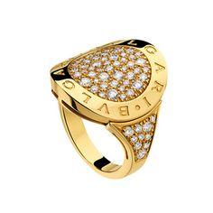 bvlgari pavé diamond ring
