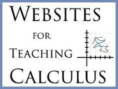 with Free Resources for Learning and Teaching Calculus Teaching your teen Calculus? These websites can help.Teaching your teen Calculus? These websites can help. Math Teacher, Math Classroom, Teaching Math, College Teaching, Help Teaching, Math Help, Fun Math, Learn Math, Maths