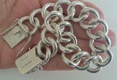 Silverarmband Vicson VJ rund Pansarlänk B mm 1963 - Armband Ideer Second Hand, Heart Charm, Gold Jewelry, Charmed, Bracelets, Designers, Fashion, La Mode, Armband