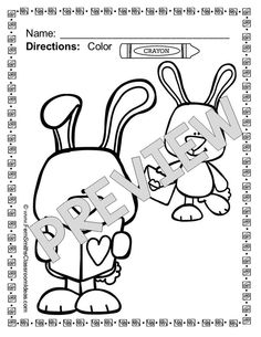 #FREE St. Valentine's Day Sample Page From my St. Valentine's Day Fun! Color For Fun Printable Coloring Pages #TPT #Freebie