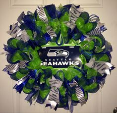 Seattle Seahawks Wreath by MissChristinasCrafts on Etsy