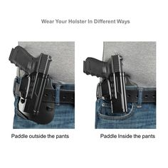 S/&W M/&P Shield 9mm 40 Holster Tactical Outside The Waistband Belt Right Handed