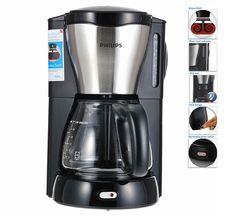 Philips Viva Coffee Maker HD7564 w/Glass Jug Aroma Swirl, Black and Metal #Philips