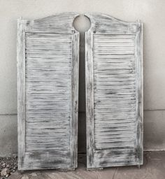 louvered cafe saloon swinging doors by olliesfinethings on etsy