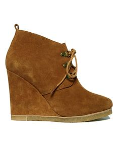 steve madden, shoes, wedge boots, brown